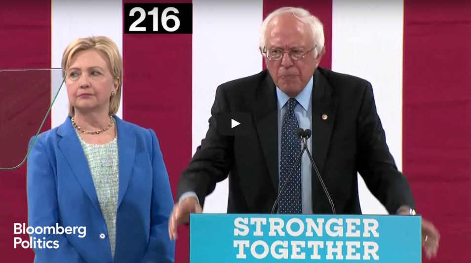 WATCH Hillary Do This Same WACKY Move 406 Times While Bernie Endorsed Her Candidacy
