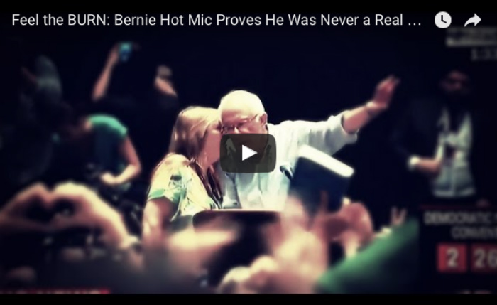 [WATCH] Bernie Sanders HOT MIC Proves The Truth About Him, Lying All Along