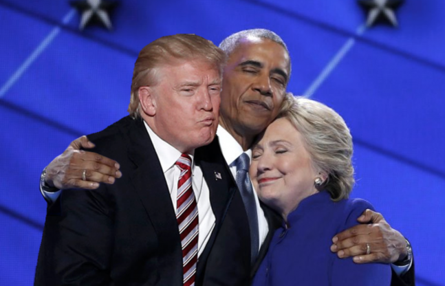 Which Photoshop Image Of Obama And Hillary's Hug Is The Best? Hilarious!