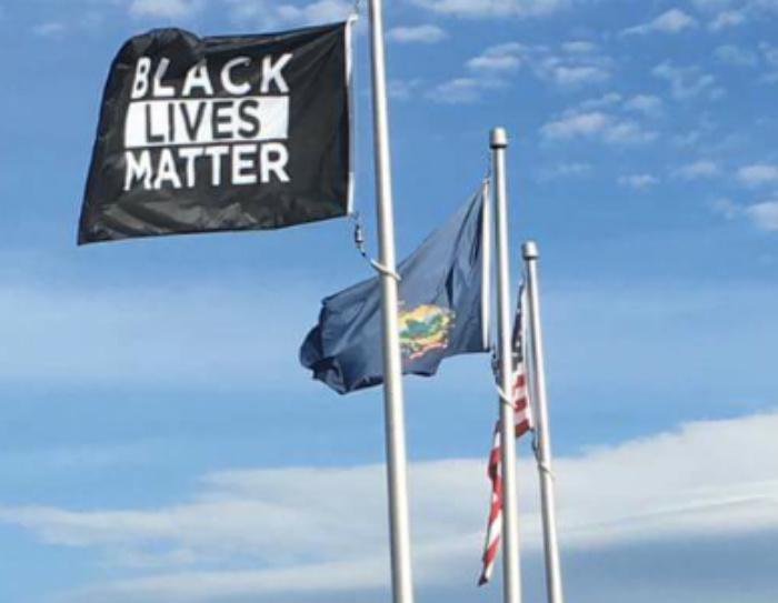 OUTRAGE: University Flies Black Lives Matter Flag Alongside US Flag