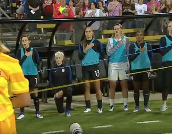 Soccer Star Takes 'Disrespecting The National Anthem' To Whole New Level