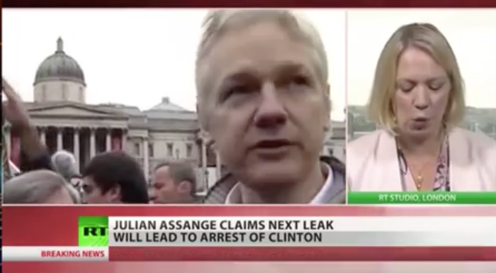 [WATCH] Julian Assange IS BACK And Just Dropped A Spoken BOMB On Hillary