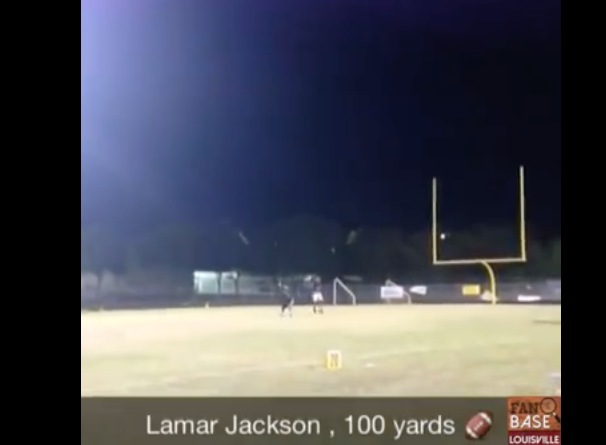 [WATCH] Lamar Jackson Once Threw A Football 100 YARDS, IN HIGH SCHOOL