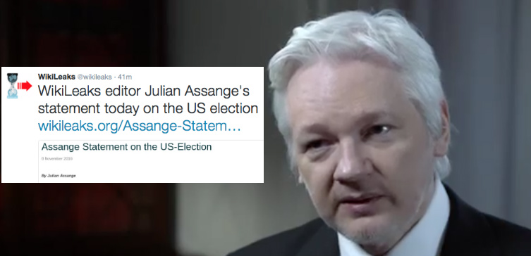 BREAKING: Assange Statement on the US Election