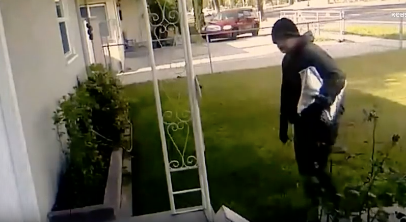 [WATCH] Thief Steals Packages, Man Sets Hidden Camera And INCENDIARY GROSS 'Bait Box'
