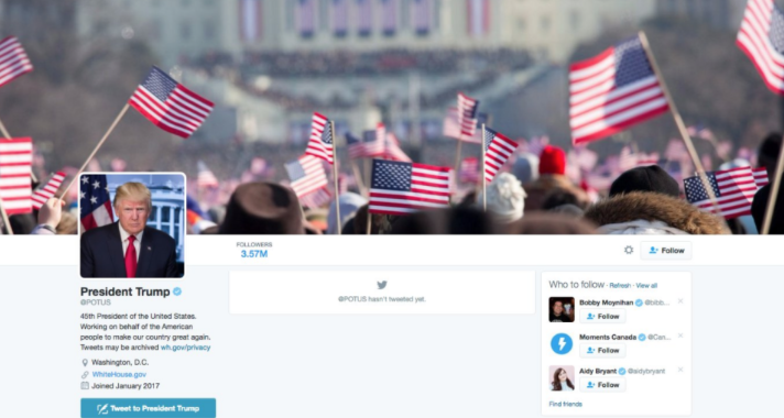 Conservatives Immediately Notice Something DISTURBING About Trump's New Twitter Image