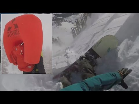 Snowboarder Films Terrifying Point-Of-View Footage From Inside An Avalanche [WATCH]