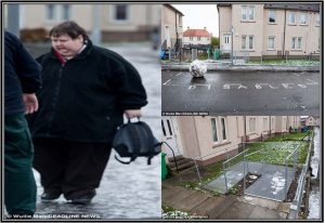 Janice and the images of her home in Kirkcaldy, Fife, has been modified by the council to accommodate her disability (Source: MailOnline)
